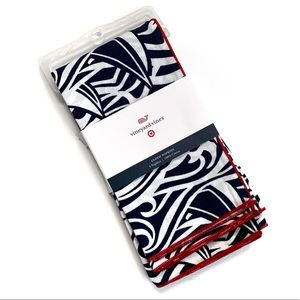 Vineyard Vines Blue White And Red Cloth Napkins